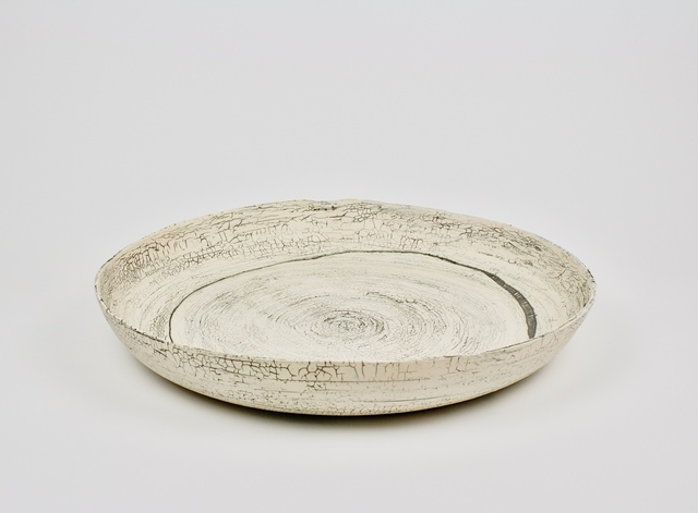 , 'Low Bowl w Crackle Glaze & Ladder Drawing,' 2017, LACOSTE / KEANE GALLERY