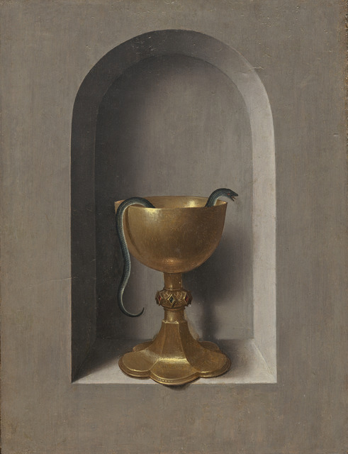 Hans Memling, 'Chalice of Saint John the Evangelist [reverse]', ca. 1470/1475, Painting, Oil on panel, National Gallery of Art, Washington, D.C.