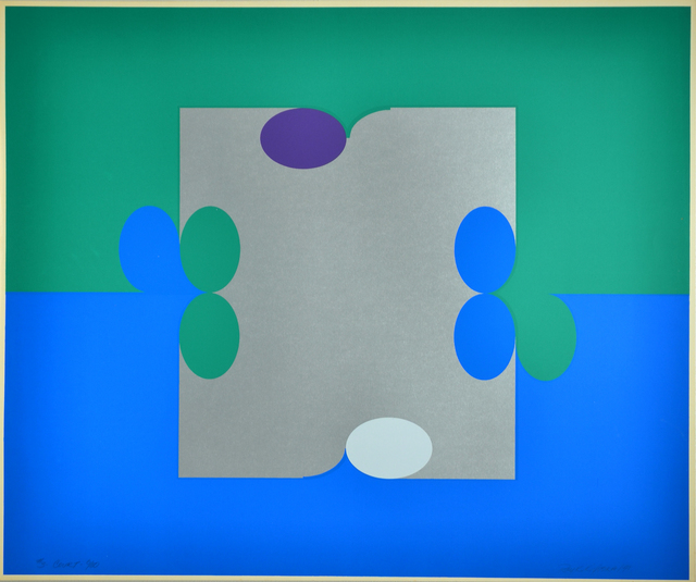 , '#3 Court (Blue/Green),' 1971, Herringer Kiss Gallery