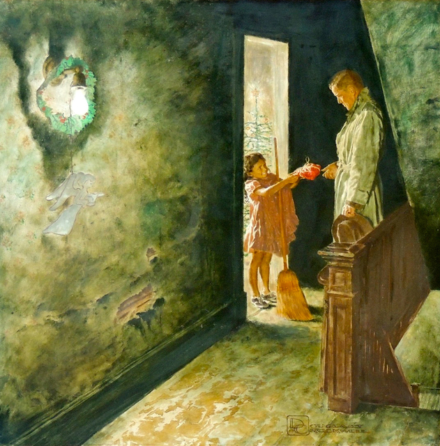 Douglass Crockwell, 'Gift Giving', The Illustrated Gallery