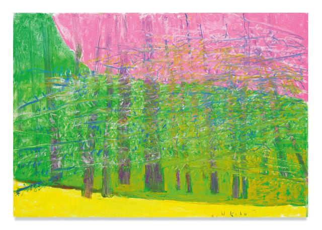 Wolf Kahn, 'Pink Sky', 2018, Miles McEnery Gallery