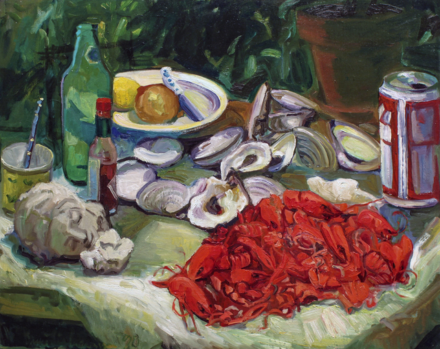 , 'Crayfish, Oysters and Beer,' 2018, BCK Fine Arts Gallery at Montauk