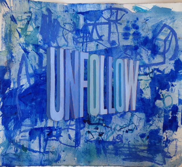 , 'Unfollow (Blue),' 2015, Joshua Liner Gallery