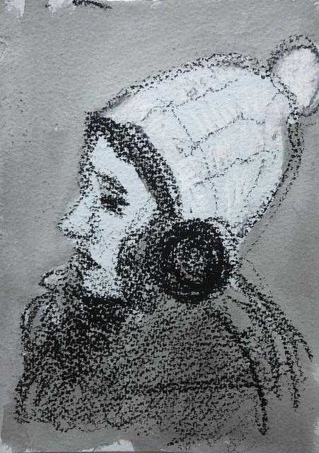 , 'White Pom Pom Hat and Earmuffs,' 2018, Ground Floor Gallery