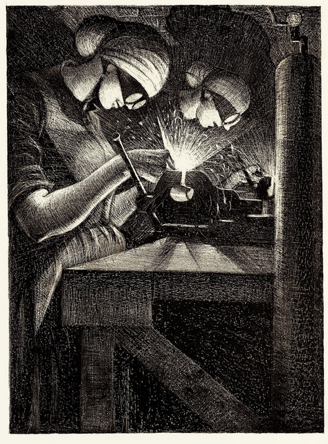 , 'Acetylene Welder,' 1917, Gerrish Fine Art