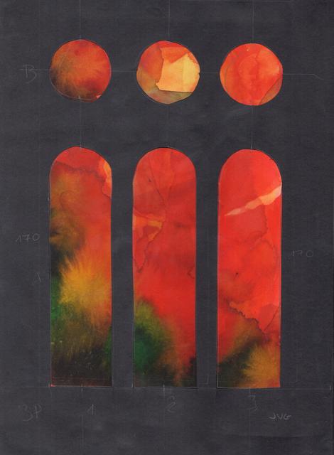 , '10- Estat Final - estudi dels vitralls de la nau de ponent,' , Sala Parés