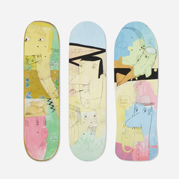 skateboard decks, set of three