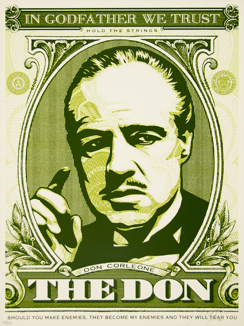 Shepard Fairey (OBEY), 'The Don (God Father Matching Numbers Set)', 2006, Heather James Fine Art Gallery Auction