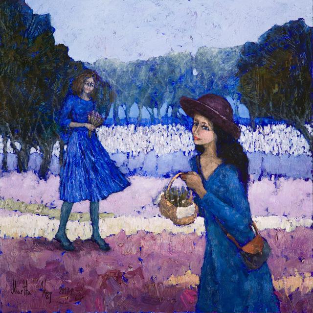 , 'Morning scented with lavender,' 2017, Galeria Katarzyna Napiorkowska