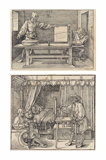 Albrecht Dürer, 'Unterweisung der Messung (B. 146, 147; M., Holl. 268, 269 & XXVI; S.M.S. 274)', 1525, Print, The book with three original woodcuts and various other illustrations, Christie's Old Masters
