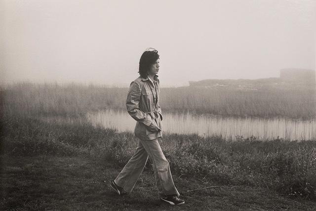Ken Regan, 'Mick Jagger on the grounds of Andy Warhol's Montauk home in 1975', 1975, Upsilon Gallery
