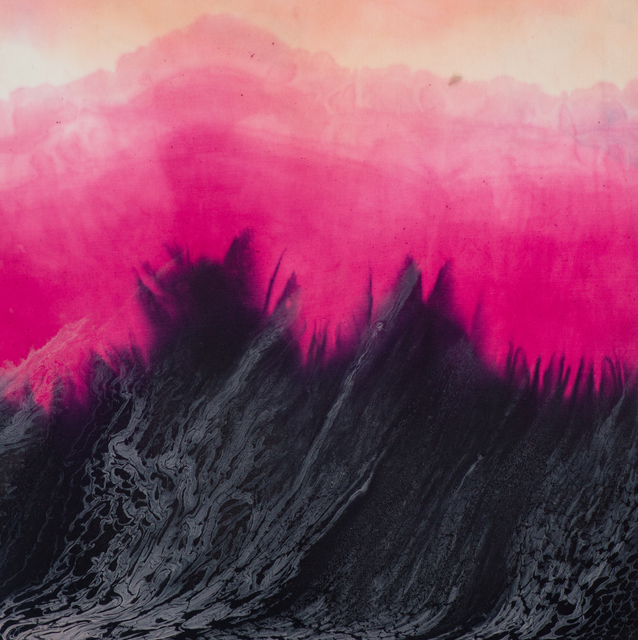 Jennifer Wolf, 'Dye Painting #7', 2020, Painting, Alum mordant, logwood, cochineal, mineral pigment, silk on canvas over panel, Bentley Gallery