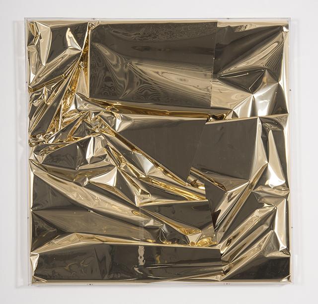 , 'Mylar Gold 3,' 2017, Galleria Ca' d'Oro