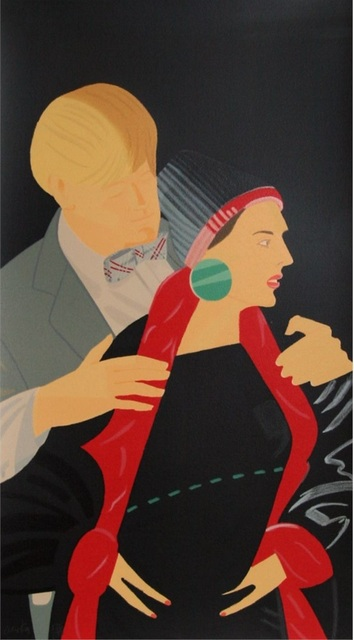 Alex Katz, 'Red Grooms and Elizabeth Ross', Evelyn Aimis Fine Art