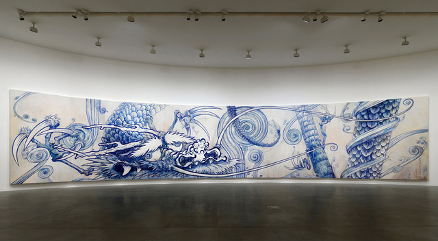 , 'Dragon in Clouds - Indigo Blue,' 2010, Gagosian