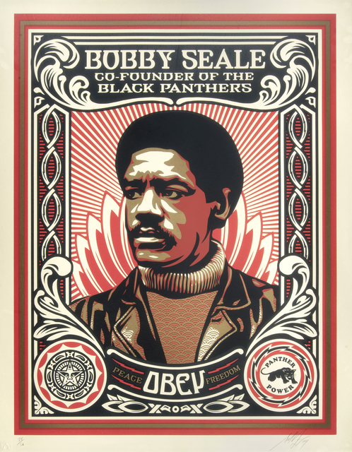 Shepard Fairey, 'Bobby Seale', 2004, Tate Ward Auctions