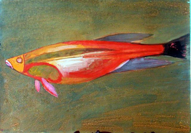 , 'Red Fish,' 1956, Galerie Isabella Czarnowska