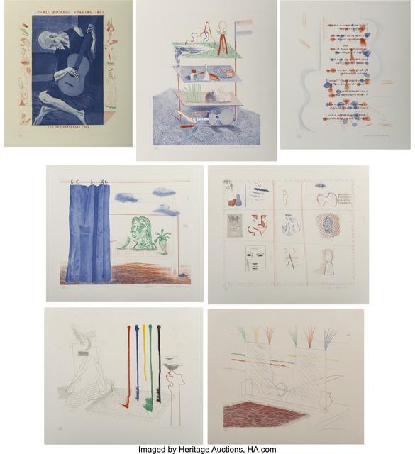 David Hockney, 'The Blue Guitar (seven works)', 1976-77, Heritage Auctions