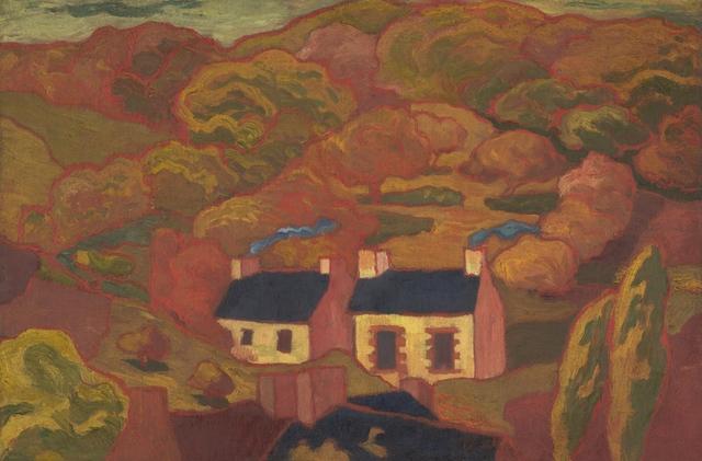 Armand Séguin, 'Two Thatched Cottages (Les deux chaumières)', ca. 1893-1894, Indianapolis Museum of Art at Newfields