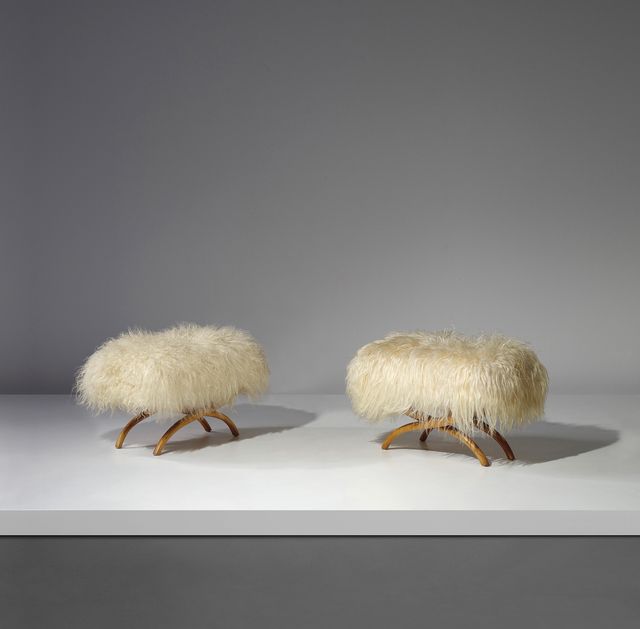 Jean Royère, 'Pair of stools', ca. 1947, Phillips