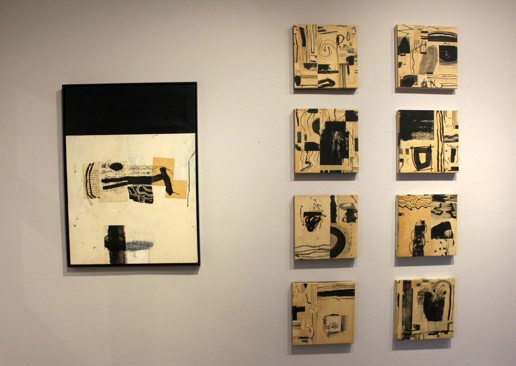 Several installed works by Dennis Parlante.