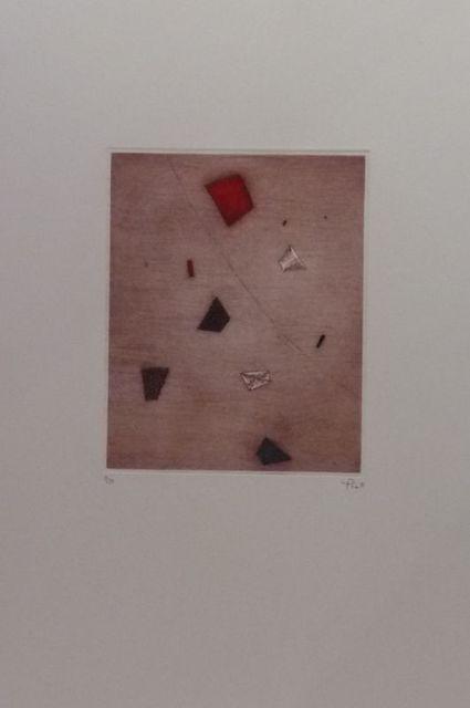 Arthur Luiz Piza, 'Le rouge d'en haut ', ca. 1970, Print, Engraving on paper, Le Coin des Arts
