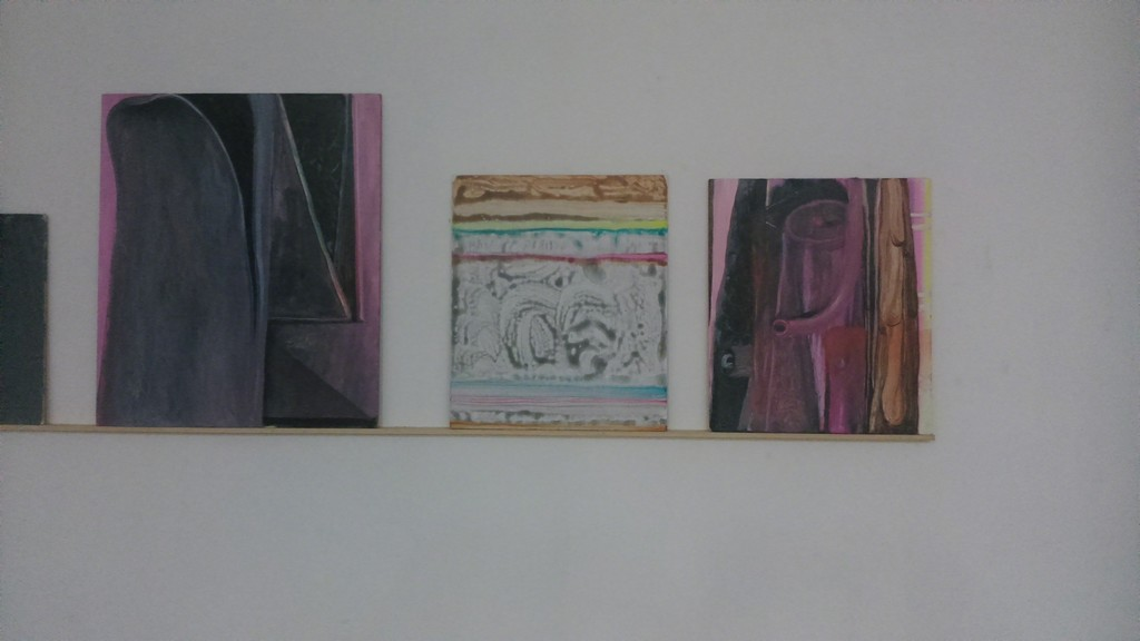 Installation overview with various paintings for the solo exhibition 'The Ill Matched Lovers' by Sander van Deurzen.