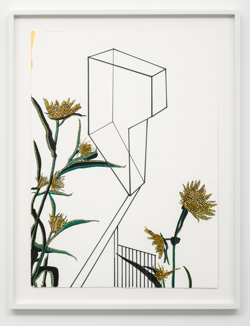 , 'Studies of Line, Color, and Plants #8,' 2017, Lora Reynolds Gallery