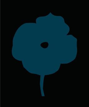 , '12 Colors (Dark Blue Flower),' 2007, Posner Fine Art