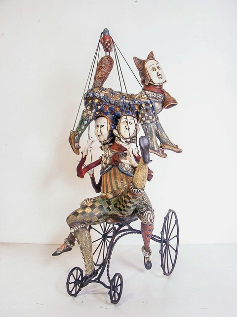 , 'Bicycle Dance with Cat Hat,' 2018, WaterWorks Gallery
