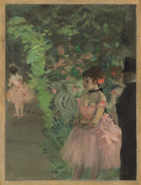 , 'Dancers Backstage,' 1876, Seattle Art Museum