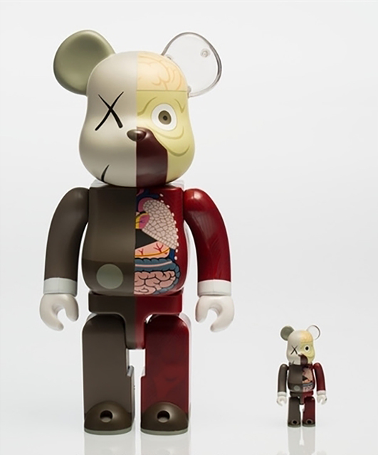 KAWS, 'KAWS X BE@RBRICK Dissected Companion 400% and 100% (Brown)', 2010, 5ART GALLERY