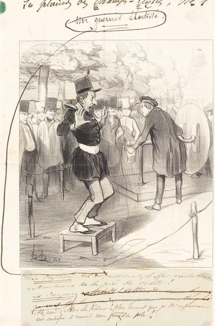 Honoré Daumier, 'Une Guerrier électrisé', 1843, National Gallery of Art, Washington, D.C.