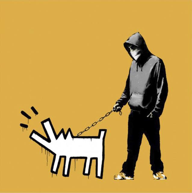Banksy, 'Choose Your Weapon (Light Orange)', 2010, Taglialatella Galleries