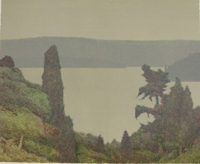 , 'PUGET SOUND THROUGH TREES,' 1989, Fitzwater Street Gallery