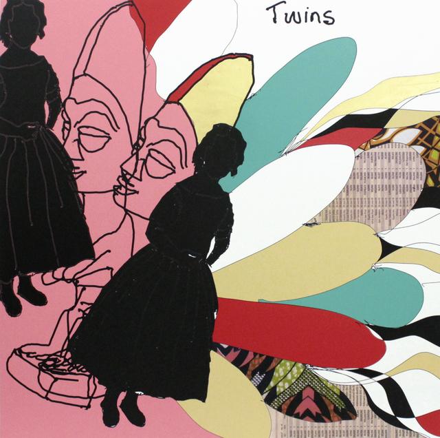 , 'Twins III,' 2015, TAFETA
