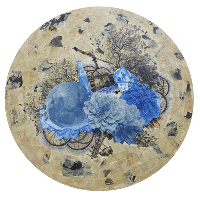 , 'Dream of the Chrysanthemum (Moonlight on the blossom Series),' 2016, Lucie Chang Fine Arts/ L+