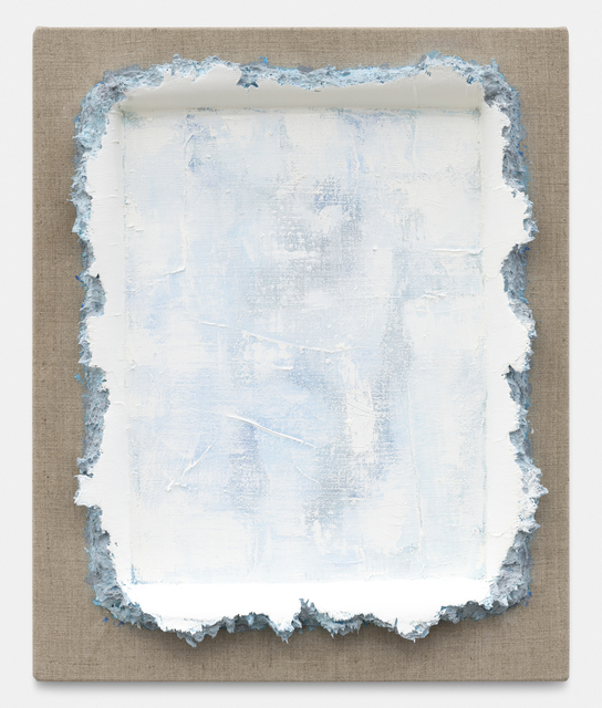 Andrew Dadson, 'Turquoise Light Grey White Restretch', 2020, Painting, Oil and acrylic on linen, NINO MIER GALLERY