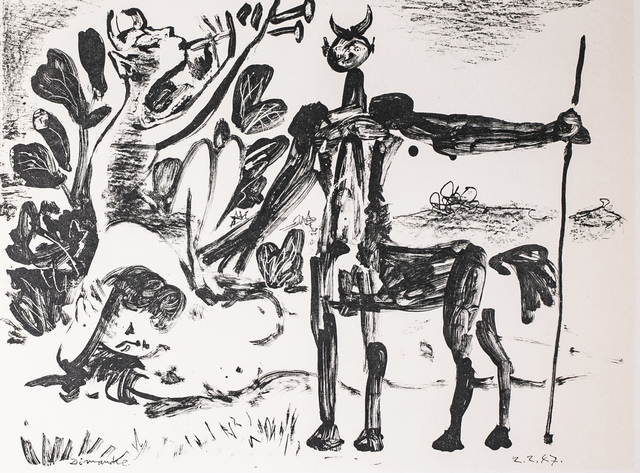 Pablo Picasso, 'Centaure Et Bacchante Avec Un Faune, 1949 Limited edition Lithogrph by Pablo Picasso', 1949, White Cross