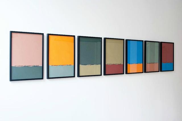 , 'All Colours will agree in the dark,' 2017, 3+1 Arte Contemporânea