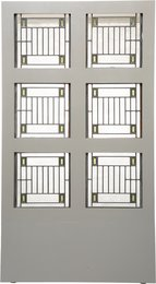 Six Skylight Windows from the Avery Coonley House, Riverside, Illinois