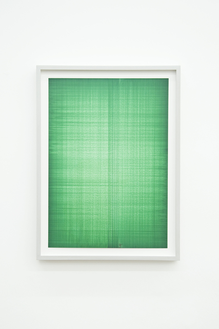 , 'Double-layer Table Drawings (Green 1),' 2014, Philipp von Rosen Galerie