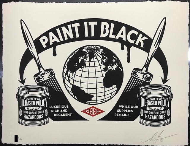 Shepard Fairey, 'Paint It Black Obey Giant Letterpress Print', 2020, New Union Gallery