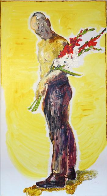 , 'Mann mit Blumen,' 2014, Flowers