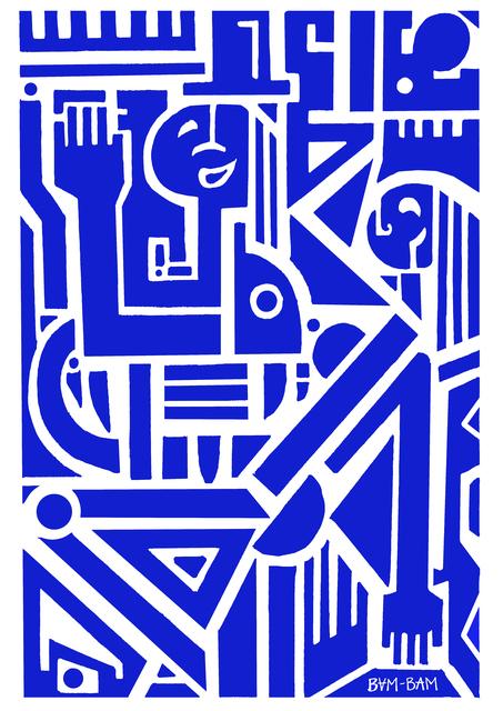, 'Square Dancers (Blue),' 2019, Bridgeman Editions