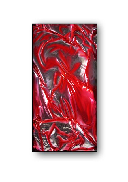 , 'Termomodelado Plata y Rojo I,' 2017, Vetusart