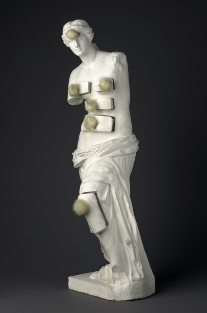 Salvador Dalí, 'Venus de Milo with Drawers', 1936, Sculpture, Painted plaster with metal pulls and mink pompons, Art Institute of Chicago