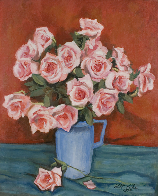, 'Pink Roses in Blue Pitcher,' 1934, Forum Gallery