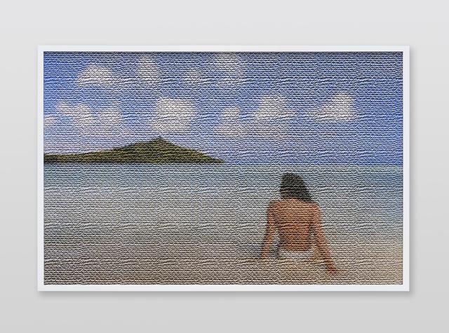 , 'Jennifer in Paradise, Texurizer_Burlap_bottom, CS6 lenticular series,' 2015, Future Gallery
