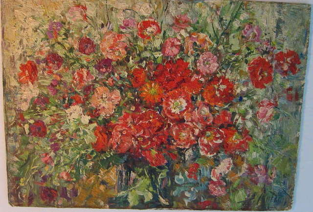 Samuel Rothbort, 'Floral Bouquet', 1930-1939, Painting, Oil Paint, Board, Lions Gallery